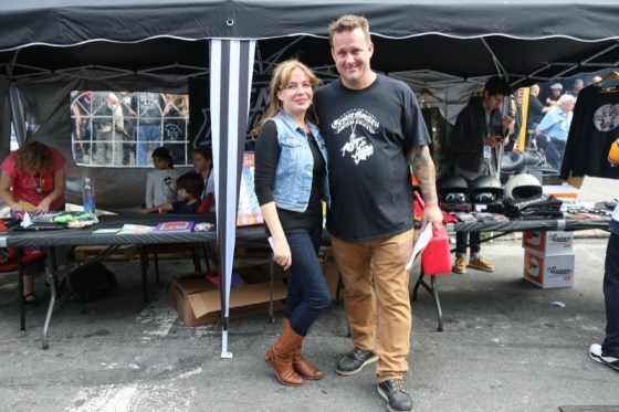 Indian Larry Motorcycles owners Elisa and Bobby Seeger hosted thousands of fans, family and friends at the block party