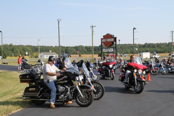 Rommel H-D Delmarva saw a constant stream of bikes ride in and out of the dealership lot