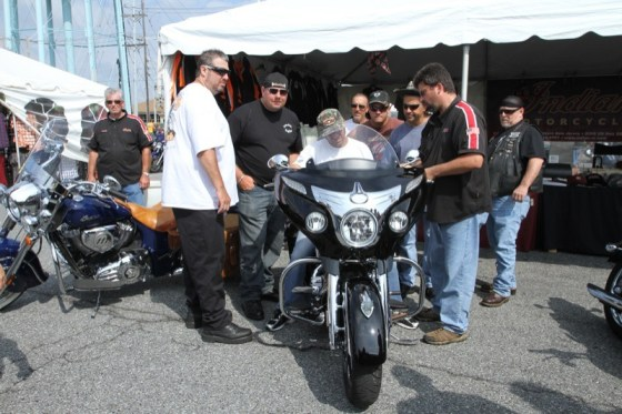 This 2014 Indian Chieftain, displayed by Indian Motorcycle of Northern New Jersey, attracted lots of attention at the Ocean City Convention Center