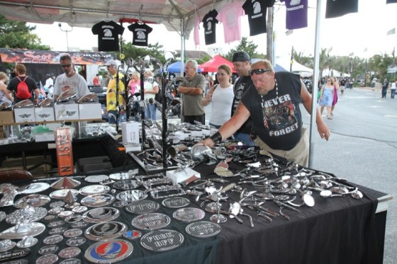 Shoppers peruse the bling at Seacrets, one of the rally venues