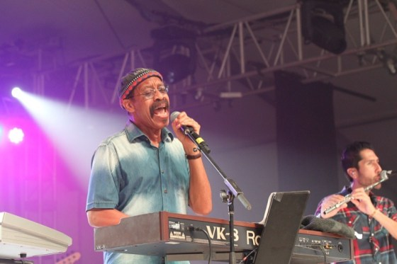 """War frontman Lonnie """"Leroy"""" Jordan made sure the audience heard all their favorite songs from the 60's and 70's, as well as some new tunes"""