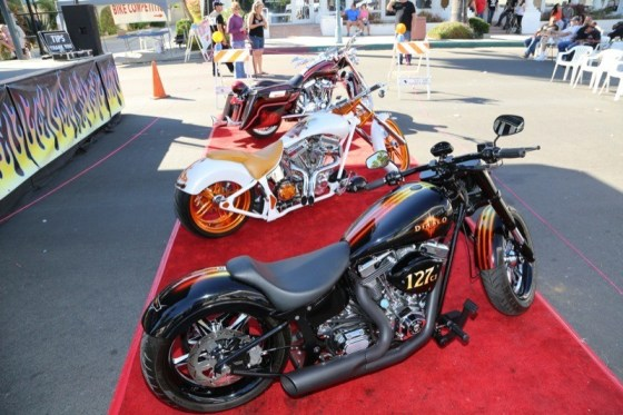 The top three winners at this year's Custom Bike Competition
