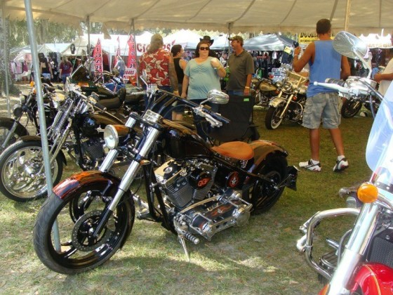 C.O.B.B. member Dave Russel's entry in the bike show