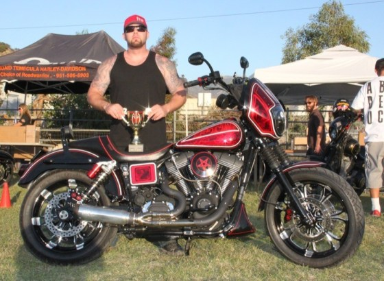 Johnny Klein with his 2003 FXDX that took Best of Show