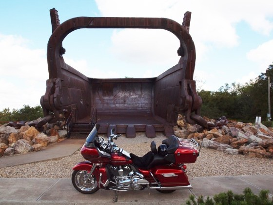 "A stop at Miner's Memorial Park near McConnelsville to check out ""Big Muskie's Bucket"" is a must"