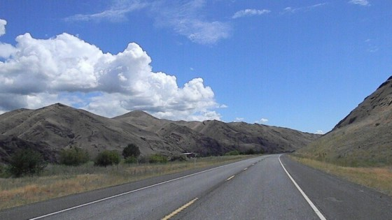 Not much aside from hills and highway as you cruise OR205 south of Burns, Oregon