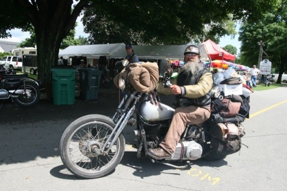 Panhead Billy at the AMCA Rhinebeck Grand National Meet in 2005
