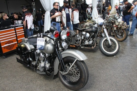 Some fine classics entered the competition at the Harley-Davidson Ride-In Bike Show on Wednesday
