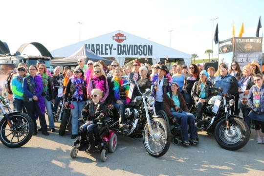 The Harley-Davidson MDA Women's Ride kicked off at International Speedway on Tuesday