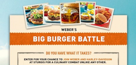 Weber Grills and Harley-Davidson Big Burger Battle