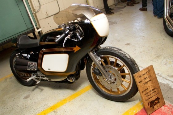 Brad Richards of Zen of Neato built this '99 Sporty to emulate the full-fairing Daytona TT bikes The Motor Company raced in the 50's and 60's