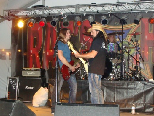 Hans & Tony from Big Engine rock the Rat's Hole stage