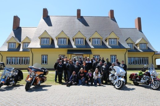 Outer Banks H.O.G. led a ride to the Whalehead Club on Thursday