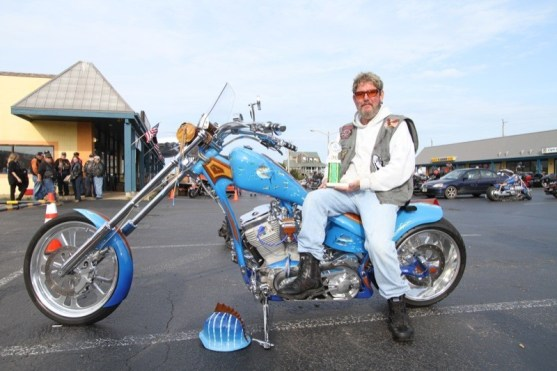Friday's bike show at Nags Head H-D saw George Evans from Manteo take first place in the Custom class with his Marlin Bike