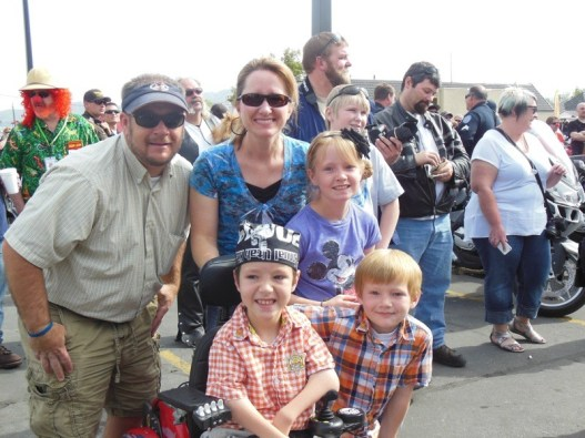The Bradshaw family was all smiles at the Utah Kids Ride