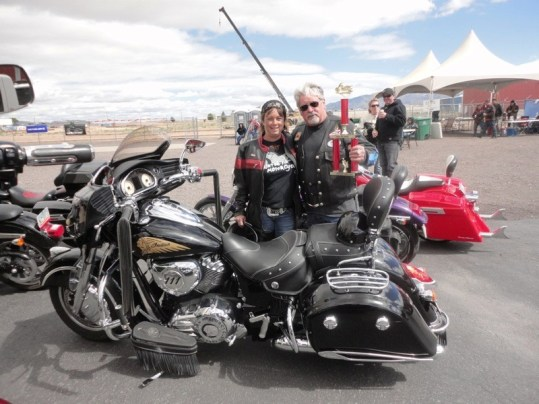Indian Mike takes Best in Show for his beautiful 2014 Indian Chieftain