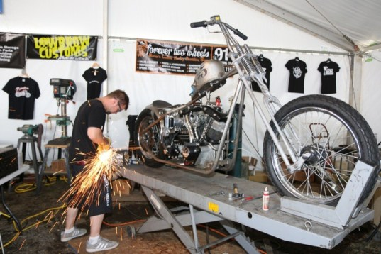 The fabrication skills of Nick Beaulieu of Forever Two Wheels was one reason behind his winning the 2014 Biker Build-Off at the Lobster Pound