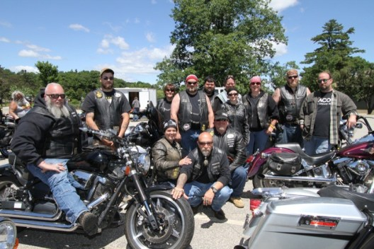 Members of Cornerstone Motorcycle Ministry performed biker blessings on Friday during the Laconia Bike Show at Opechee Park
