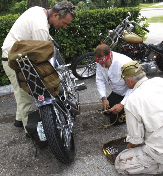 Roadside repairs on the first day