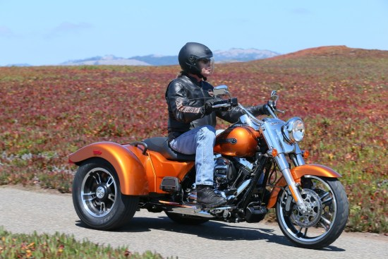 The Motor Company brings some attitude to the trike market with the 2015 Freewheeler