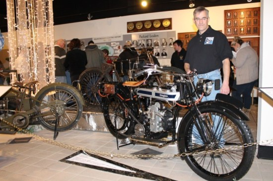 Kevin Hillyard and his self-restored 1923 Douglas