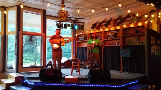 The Purple Fiddle, where we saw Herb & Hanson, is on the Mountain Music Trail