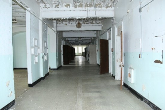 The huge Trans Allegheny Insane Asylum was constructed in the Gothic Revival and Tudor Revival styles. We saw renovated patient wings as well as those that had not been remodeled, making for some creepy moments during our tour.