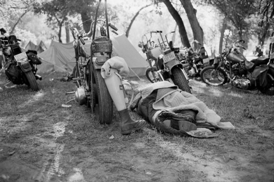 Photographer Michael Lichter's annual art show, Motorcycles as Art, included this image of City Park from his first Sturgis experience in 1979
