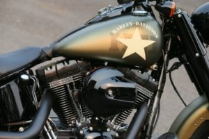 """Punching holes in the wind, the new 2016 Softail Slim S features 110"""" of Screamin' Eagle power"""