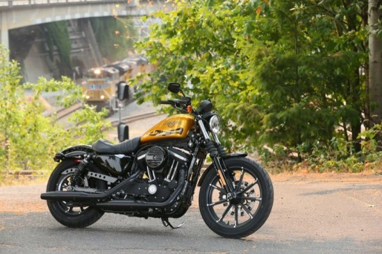 A re-engineered suspension system fore and aft brings a new level of handling to the XL Iron 883