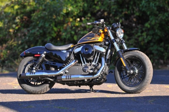 A savage little beast with a new beefy 49mm front end, the Forty-Eight is officially a street brawler