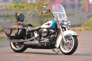 Sticking to its styling roots, the Heritage Softail Classic remains that… a classic