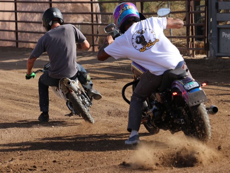 The Kruesi krew did a great job of throwing dirt in the air while tearing up the rodeo arena at Outlaws Saloon
