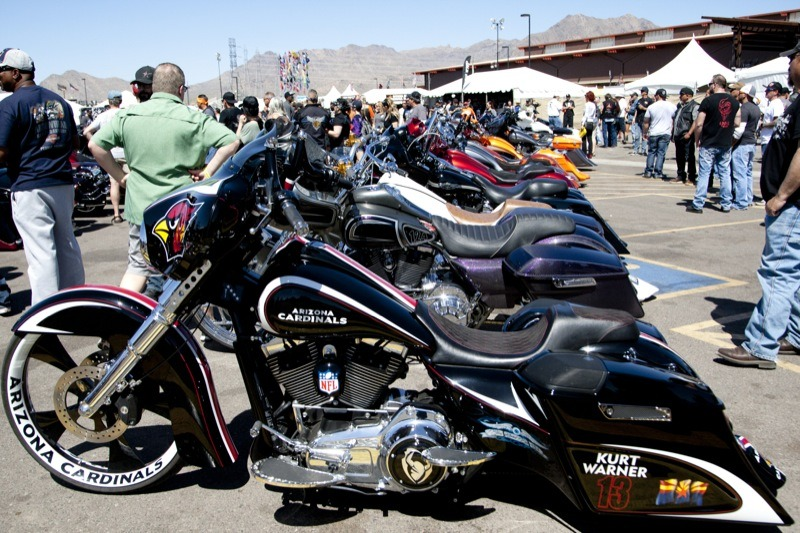 The Baddest Bagger contest on Saturday drew fans of all ilk, including Arizona Cardinals fans