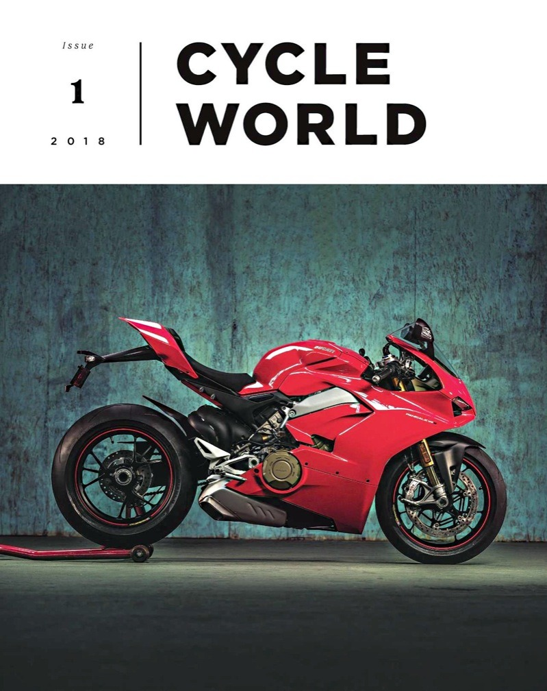 "Forsaking old for new, the revamped, rebooted Cycle World sports ""Issue 1"" on the cover… of a quarterly. They are trying. Number one, while quite pretty to look at, isn't just a face; its pages reveal everything you need to know about Titanium, a hell of lot about Ducati Panigales and more. ""More"" for me critically includes the fact that with a full subscription you have access to ""cover-to-cover""… (meaning every issue ever printed)… digitally! (Cycle News and others are following suit… can't happen quick enough.)"