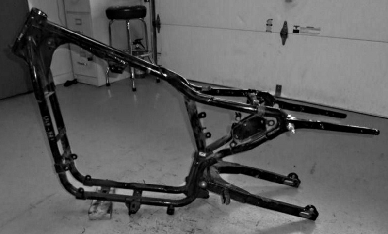 This is the frame that made Sportsters the handlers the XLCR only hoped to be… the all-welded, super-stout, properly-loaded and stress-proofed 1982–2003 version