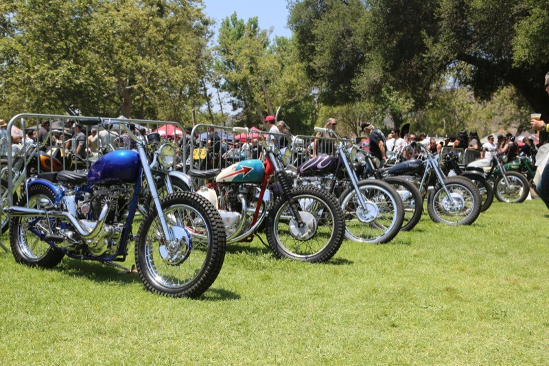 "The ""grass pass"" area contained rows of custom bikes as far as the eye could see"