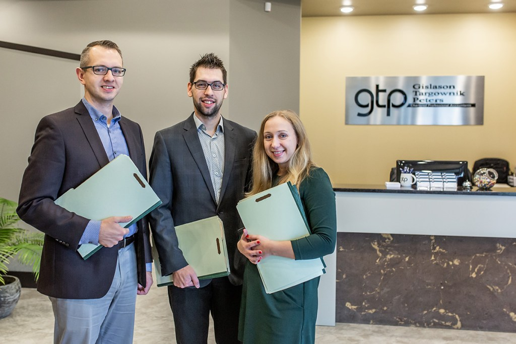 GTP Chartered Professional Accountants Staff image in their office front desk area
