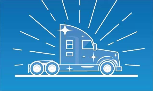 thunderstruck illustration of Semi Truck