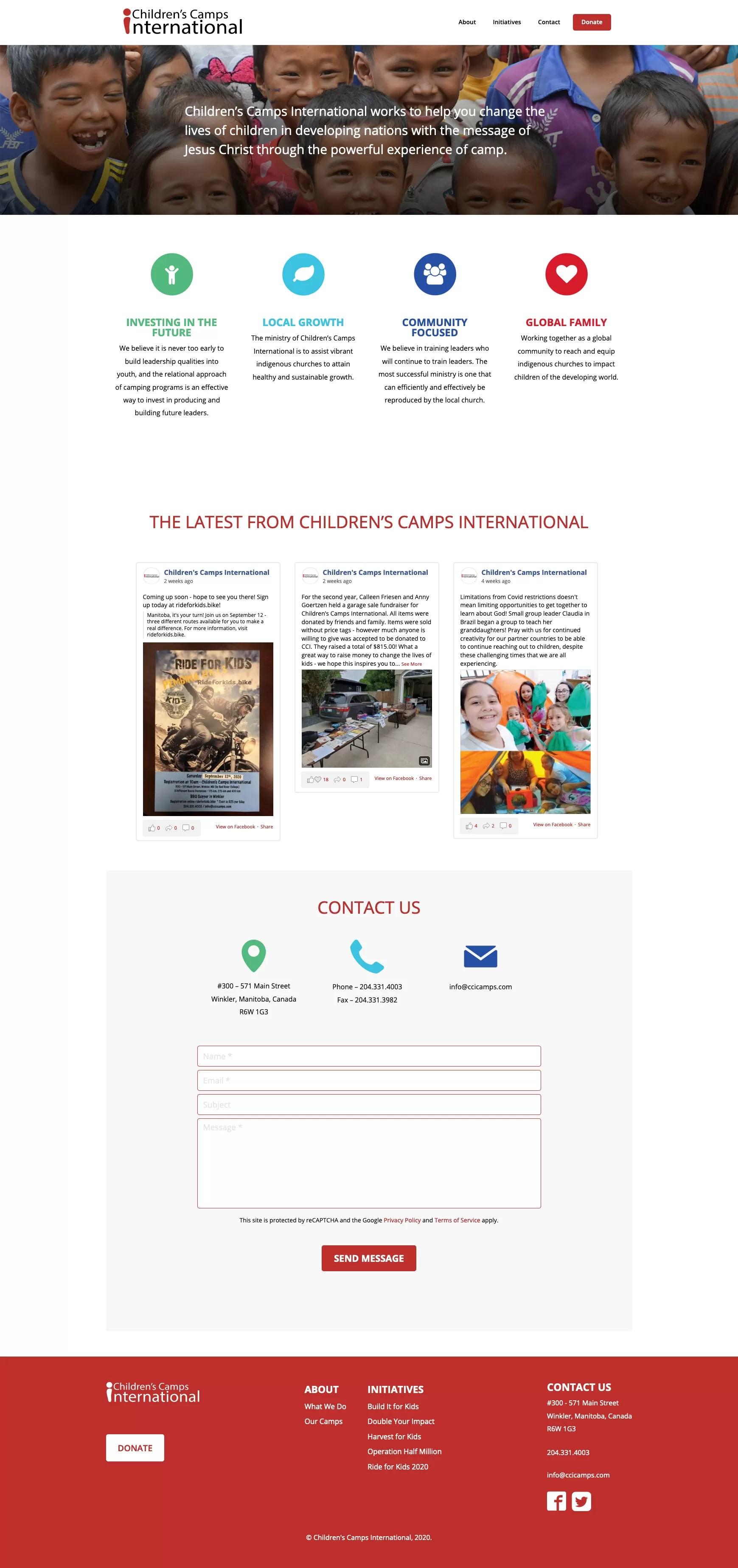 CCI Website Desktop