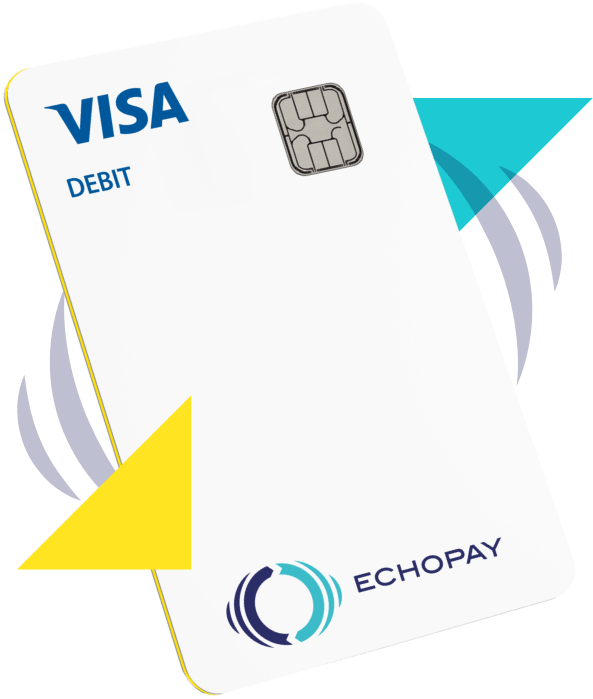 Image showing design of the EchoPay Debit Visa card