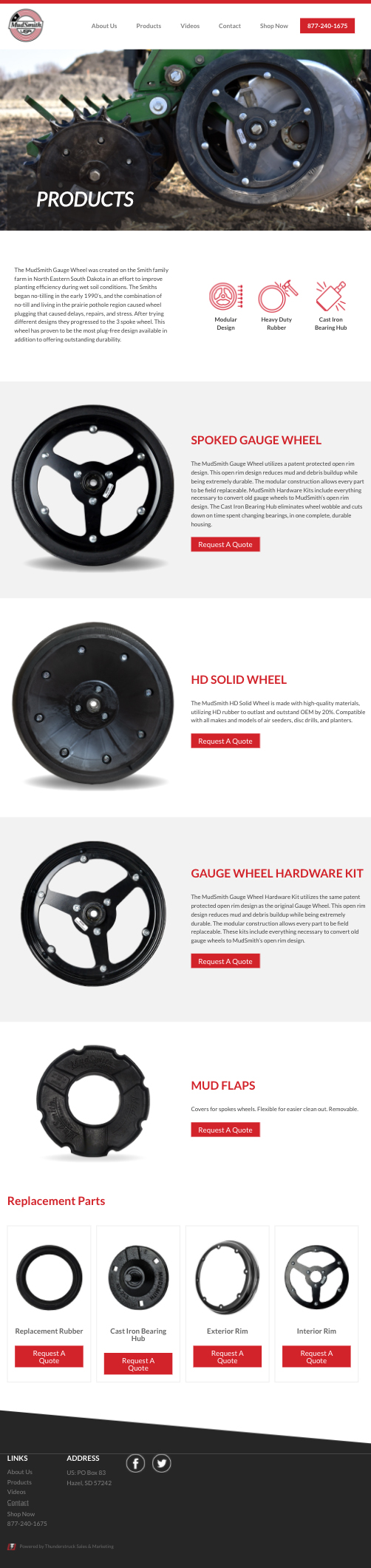 Our Product MudSmith Gauge Wheels iPad