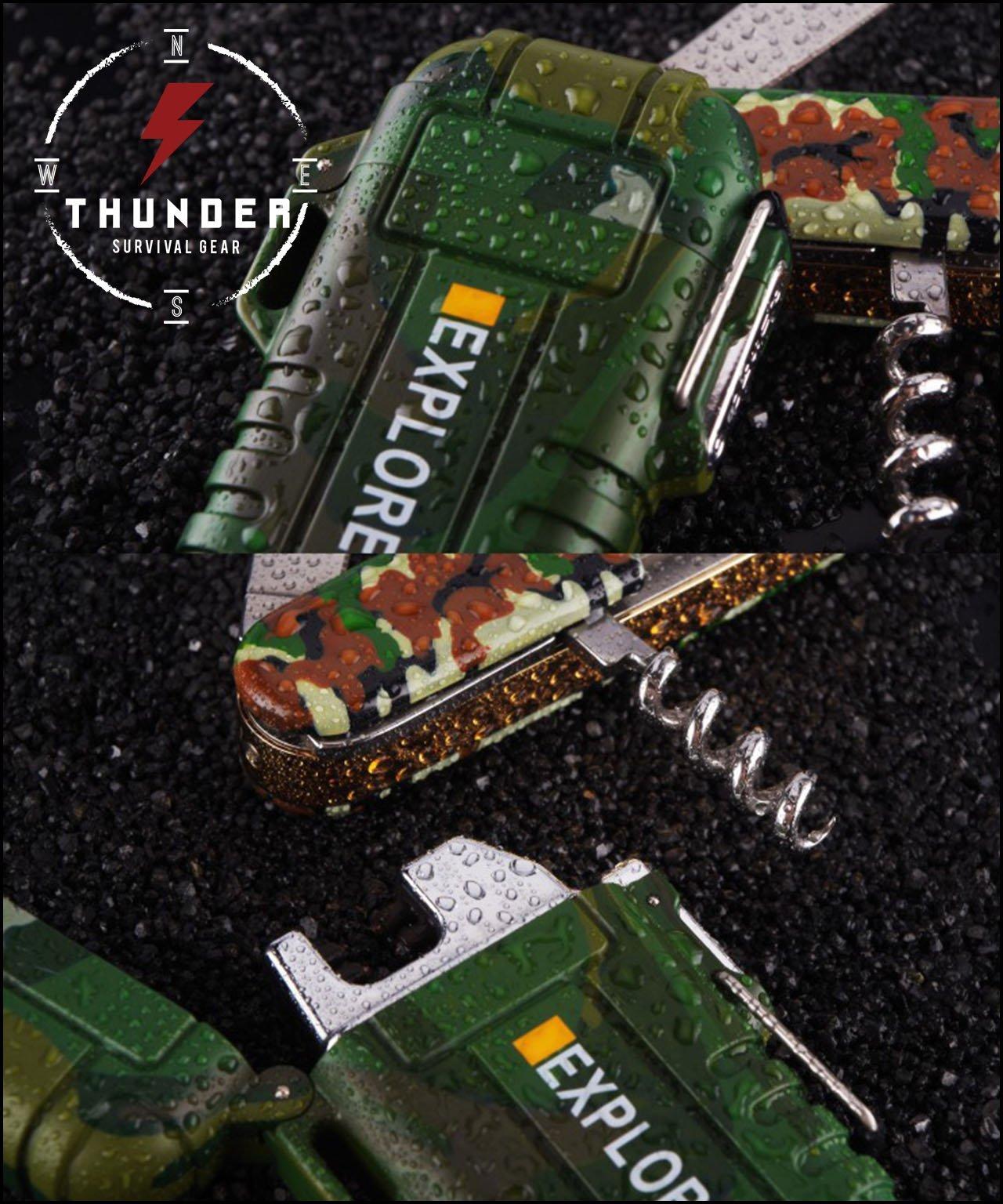 Thunder EXPLORER Dual Arc Plasma Lighter WATERPROOF STORMPROOF