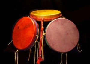 Closeup of Rainbow Drums
