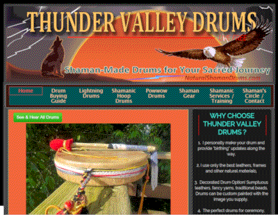 Thunder valley drums website makeover