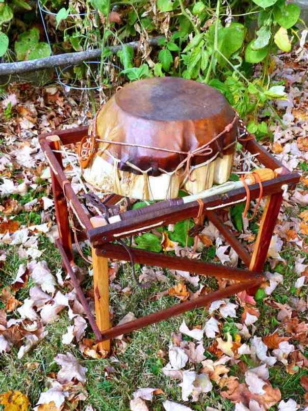 survivor drum on its drum stand