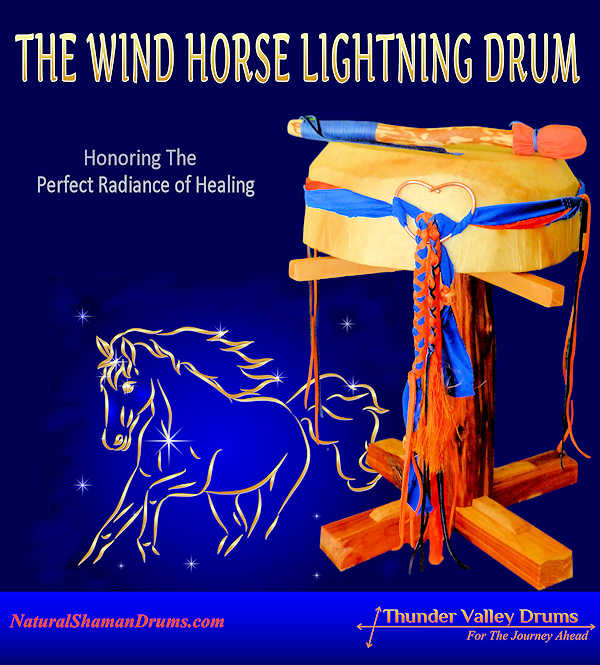 the wind horse lightning drum