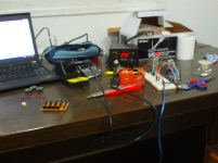 This is my current work place! you can clearly see the ridicules soldering station at the