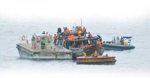 IMPOUNDED A-S BOAT-island