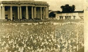 JVP rally at Town hall 1977